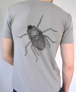 Herren T-Shirt grau - Motiv Fliege