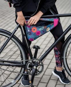 Fahrradtasche gross, rosa-bunt - Valentina Design