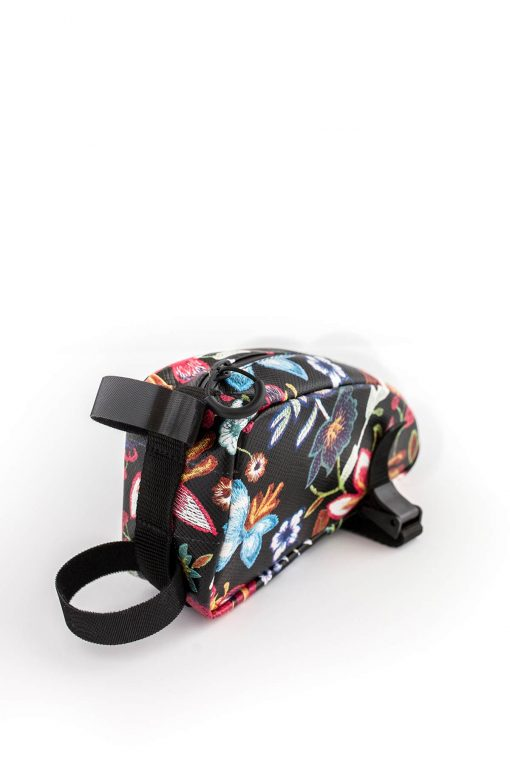 Fahrradtasche klein, schwarz-bunt - Valentina Design