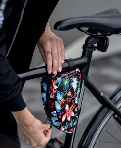 Bicycle bag small, black-multicolored - Valentina Design